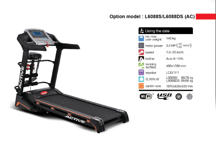 active fitness tapis de course L6088S-DS (AC)